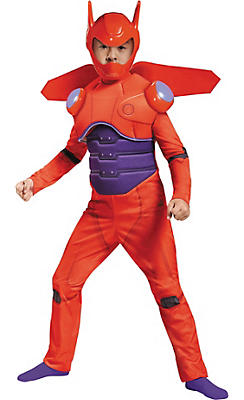 Toddler Boys Red Baymax Costume Deluxe - Big Hero 6