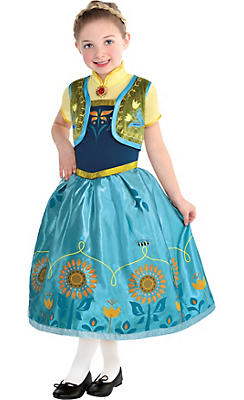 Toddler Girls Anna Costume Supreme - Frozen Fever
