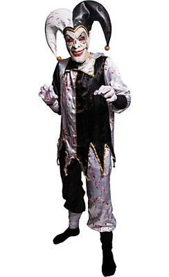 Adult Light-Up Evil Harlequin Jester Costume