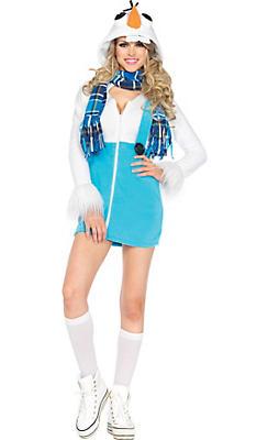 Adult Cozy Snowman Costume