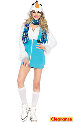 Adult Cozy Snowman Costume