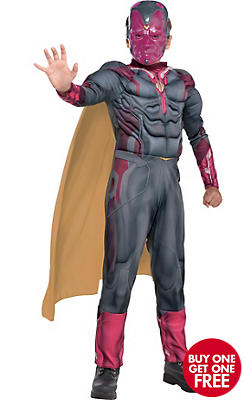 Boys Vision Muscle Costume - Captain America: Civil War