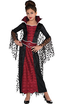 Girls Coffin Queen Vampire Costume