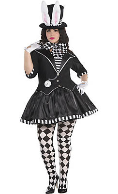 Adult Dark Mad Hatter Costume Plus Size