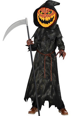 Boys Jack-o'-Lantern Reaper Costume