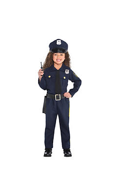 Toddler Girls Classic Police Officer Costume