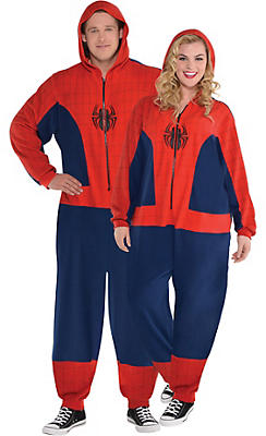 Adult Zipster Spider-Man One Piece Costume Plus Size