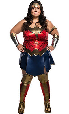 Adult Wonder Woman Costume Plus Size - Batman v Superman: Dawn of Justice