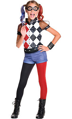 Girls Harley Quinn Costume - DC Super Hero Girls