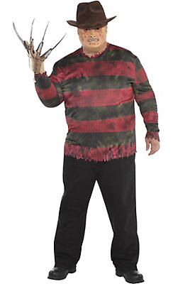 Adult Freddy Krueger Costume Plus Size - A Nightmare on Elm Street