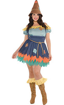 Adult Scarecrow Costume Plus Size - The Wizard of Oz