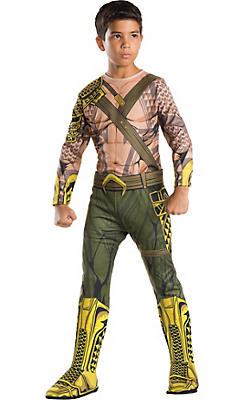 Boys Aquaman Muscle Costume - Batman v Superman: Dawn of Justice