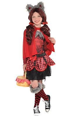 Girls Little Red Riding Hood Wolf Costume Premier