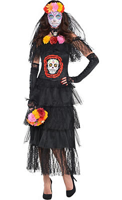 Adult Day of the Dead Costume Deluxe