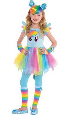 Girls Rainbow Dash Costume Deluxe - My Little Pony