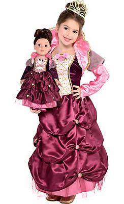 Toddler Girls Royal Queen Costume & Matching Doll Costume