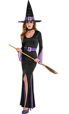 womens witch costumes - City Party Halloween Costumes