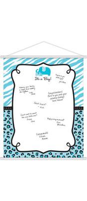 Boy Baby Shower Sign-in Sheet - Blue Safari