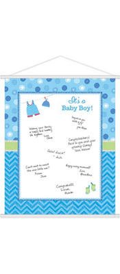Boy Baby Shower Sign-In Sheet - Shower With Love