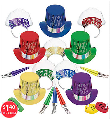 Colorful Elegance New Years <span class=messagesale><br><b>Party Kit For 10</b></br></span>