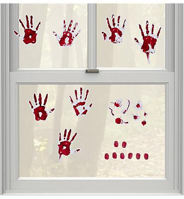 Skeleton Hand Prints Wall Grabbers 9pc
