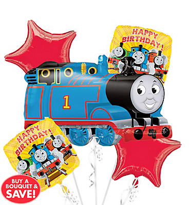 Thomas and Friends Birthday Balloon Bouquet 5pc