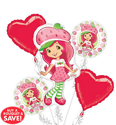 Strawberry Shortcake Balloon Bouquet 5pc