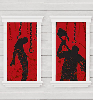 Bloody Killer Window Decorations 2ct