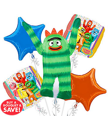 Yo Gabba Gabba Balloon Bouquet 5pc