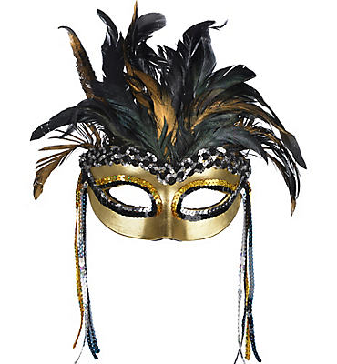 Warrior Goddess Feather Masquerade Mask