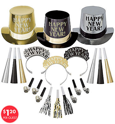Get The Party Started New Years <span class=messagesale><br><b>Party Kit For 25</b></br></span>