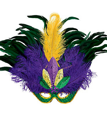 Mardi Gras Masquerade Masks Masks for Men & Women. Transform into the mysterious monsieur or belle of the French Quarter. Don a masquerade mask in butterfly or harlequin designs and wander Bourbon Street, or go for a Mardi Gras mask with poufs of feathers and sequins to make a dramatic entrance at the masked ball.