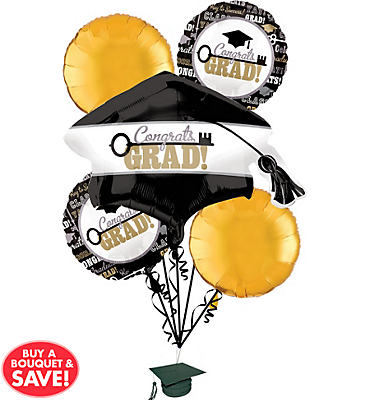 Key to Success Graduation Balloon Bouquet 5ct