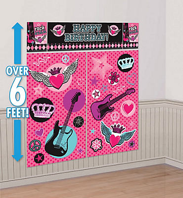 Rocker Princess Scene Setter 5pc