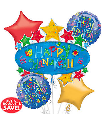 Marquee Hanukkah Balloon Bouquet 5pc