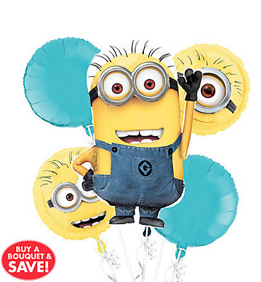 Despicable Me Balloon Bouquet 5pc