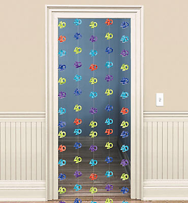 The Party Continues 40th Birthday Doorway Curtain 77in