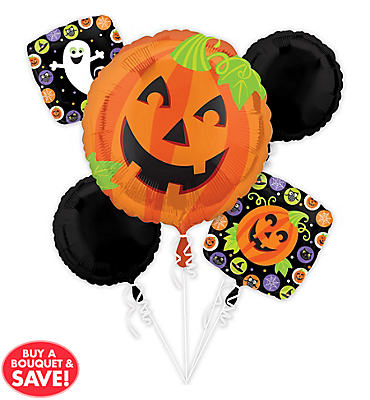 Cute Halloween Balloon Bouquet 5pc