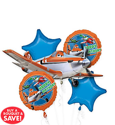 Planes Balloon Bouquet 5pc