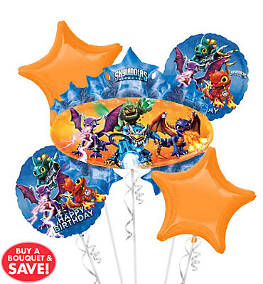 Skylanders Balloon Bouquet 5pc