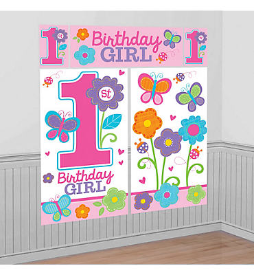 Sweet Girl 1st Birthday Scene Setter