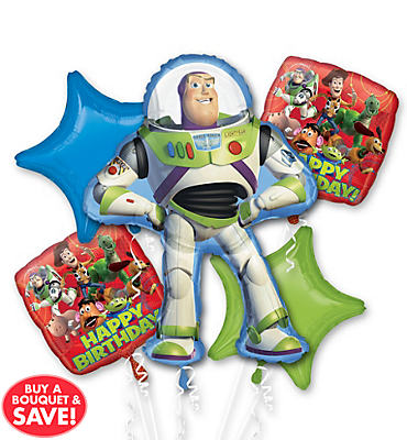 Happy Birthday Toy Story Balloon Bouquet 5pc