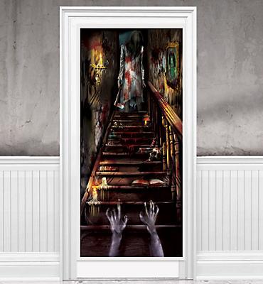 haunted house door decorations