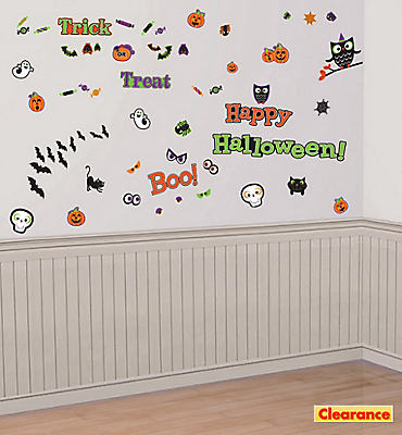 Friendly Halloween Wall Decals 73ct