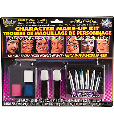 Pearlescent Pastel Character Face Paint Makeup Kit 14pc