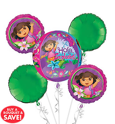 Dora the Explorer Balloon Bouquet 5pc - Orbz