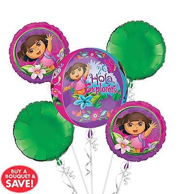 Dora the Explorer Balloon Bouquet 5pc - Orbz