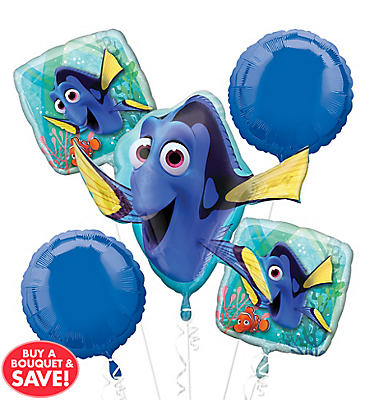 Finding Dory Balloon Bouquet 5pc
