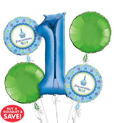 1st Birthday Boy Balloon Bouquet No 1
