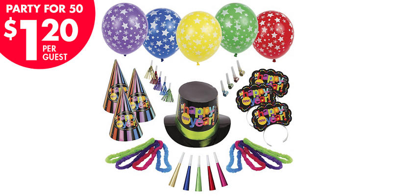 Kit For 50 - Bright Star New Year's Party Kit